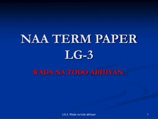 NAA TERM PAPER LG-3