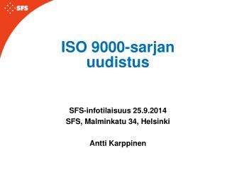 ISO 9000-sarjan uudistus
