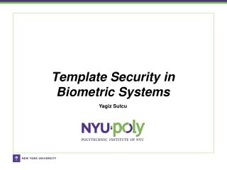 Template Security in Biometric Systems
