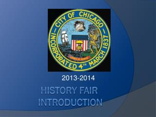 HISTORY FAIR             INTRODUCTION