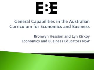 General Capabilities in the Australian Curriculum for Economics and Business