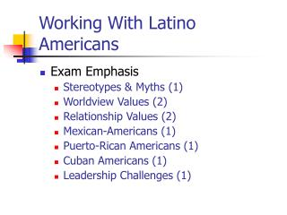 Working With Latino Americans