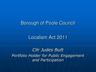 Borough of Poole Council Localism Act 2011