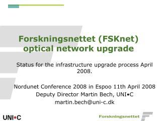 Forskningsnettet (FSKnet) optical network upgrade