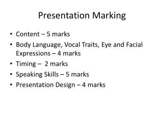 Presentation Marking