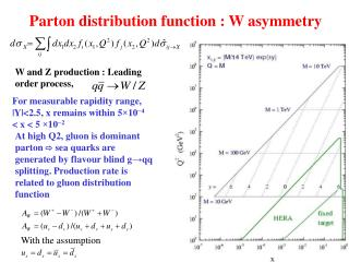 Parton distribution function : W asymmetry