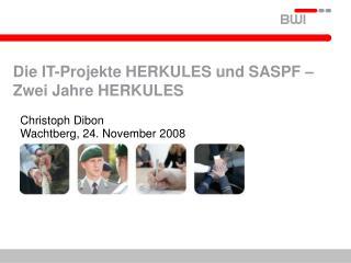Die IT-Projekte HERKULES und SASPF –Zwei Jahre HERKULES