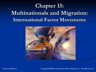 Chapter 15:  Multinationals and Migration:  International Factor Movements