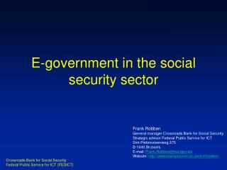 E-government in the social security sector