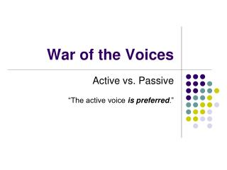 War of the Voices