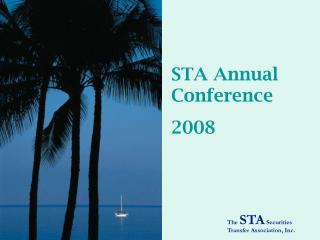STA Annual Conference 2008