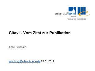 Citavi - Vom Zitat zur Publikation