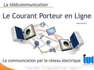 La télécommunication Le Courant Porteur en Ligne