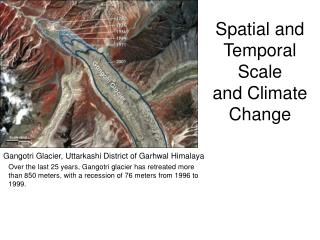 Spatial and Temporal Scale  and Climate Change