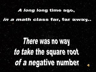 A long long time ago,  in a math class far, far away..