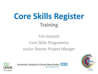 Core Skills Register Training