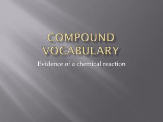 Compound Vocabulary