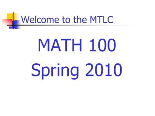 Welcome to the MTLC
