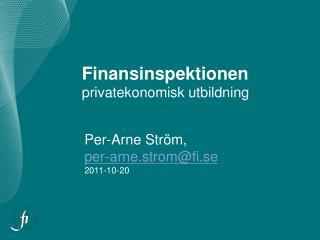 Finansinspektionen privatekonomisk utbildning