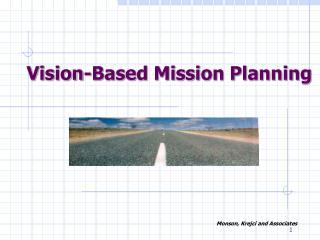 Vision-Based Mission Planning