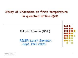 Study of Charmonia at finite temperature               in quenched lattice QCD