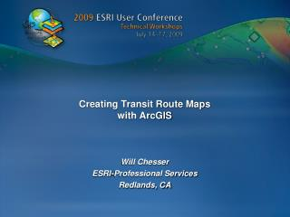 Creating Transit Route Maps  with ArcGIS