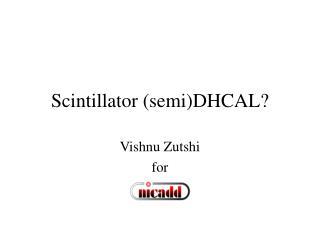 Scintillator (semi)DHCAL?