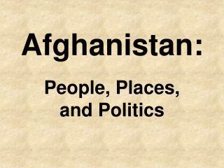 Afghanistan: