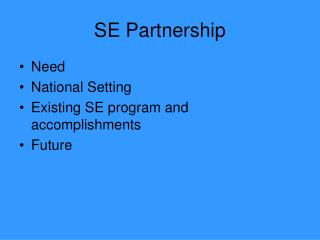 SE Partnership