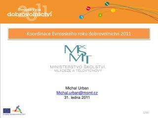 Koordinace Evropského roku dobrovolnictví 2011