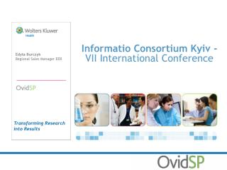 Informatio Consortium Kyiv -  VII International Conference