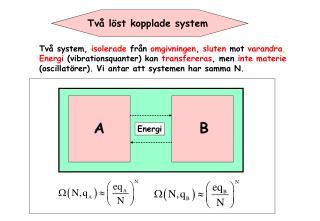 Två löst kopplade system