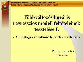 Petrovics Petra Doktorandusz