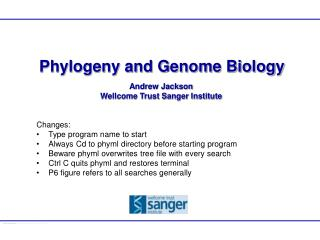 Phylogeny and Genome Biology