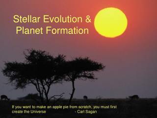 Stellar Evolution &  Planet Formation