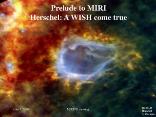 Prelude to MIRI Herschel: A WISH come true