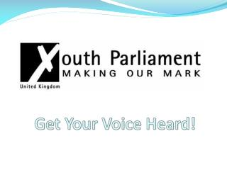 Get Your Voice Heard!