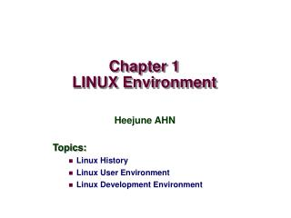Chapter 1 LINUX Environment