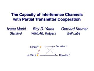 The Capacity of Interference Channels with Partial Transmitter Cooperation