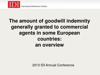2013 IDI Annual Conference