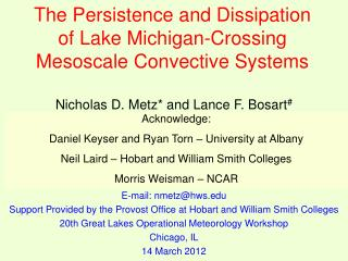 The Persistence and Dissipation of Lake Michigan-Crossing Mesoscale Convective Systems