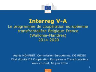 Agn�s MONFRET, Commission Europ�enne, DG REGIO