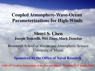 Coupled Atmosphere-Wave-Ocean  Parameterizations for High-Winds