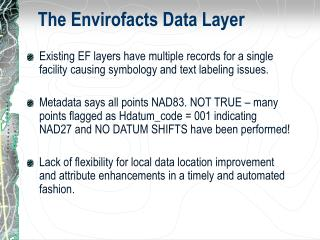 The Envirofacts Data Layer
