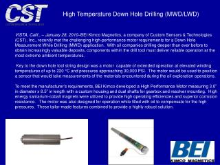 High Temperature Down Hole Drilling (MWD/LWD)