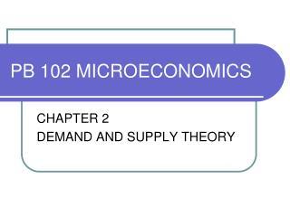 PB 102 MICROECONOMICS