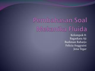 Pembahasan Soal Mekanika Fluida
