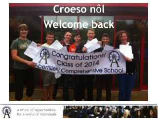Croeso n ô l Welcome back