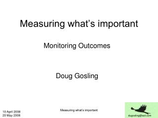 Measuring what's important