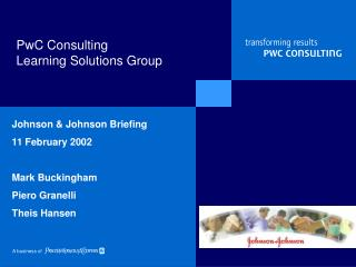 PwC Consulting Learning Solutions Group